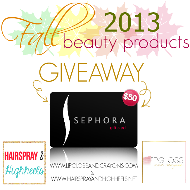 Fall Beauty Products Giveaway