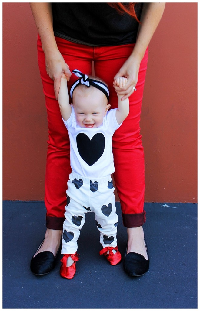 heart print baby leggings