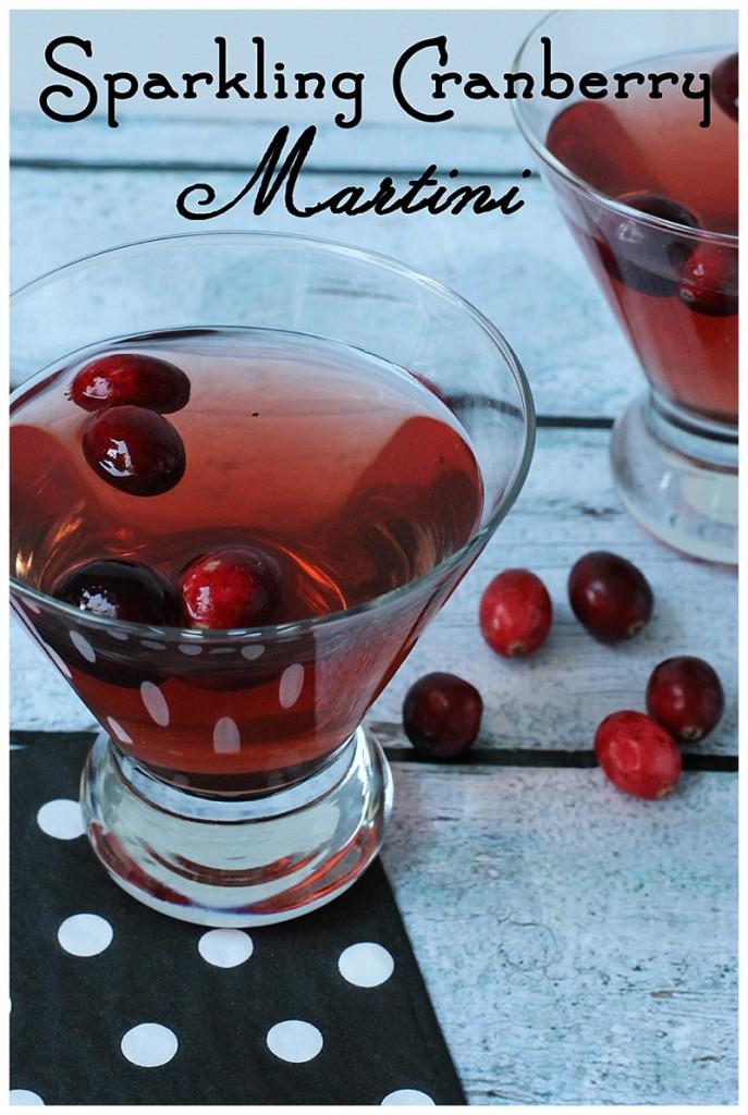 sparkling cranberry martini