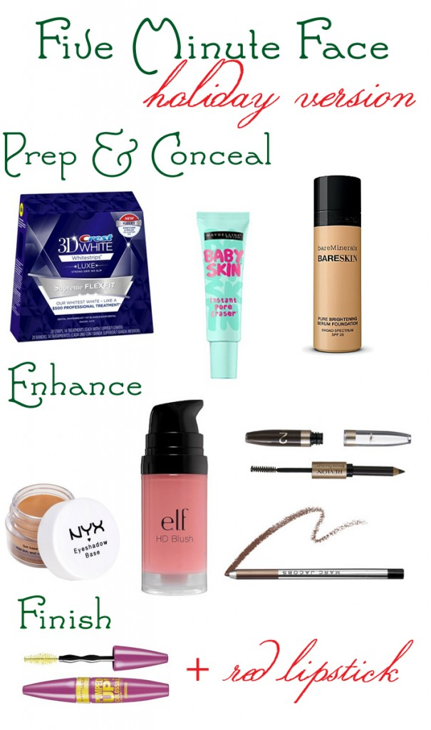 five minute face holiday