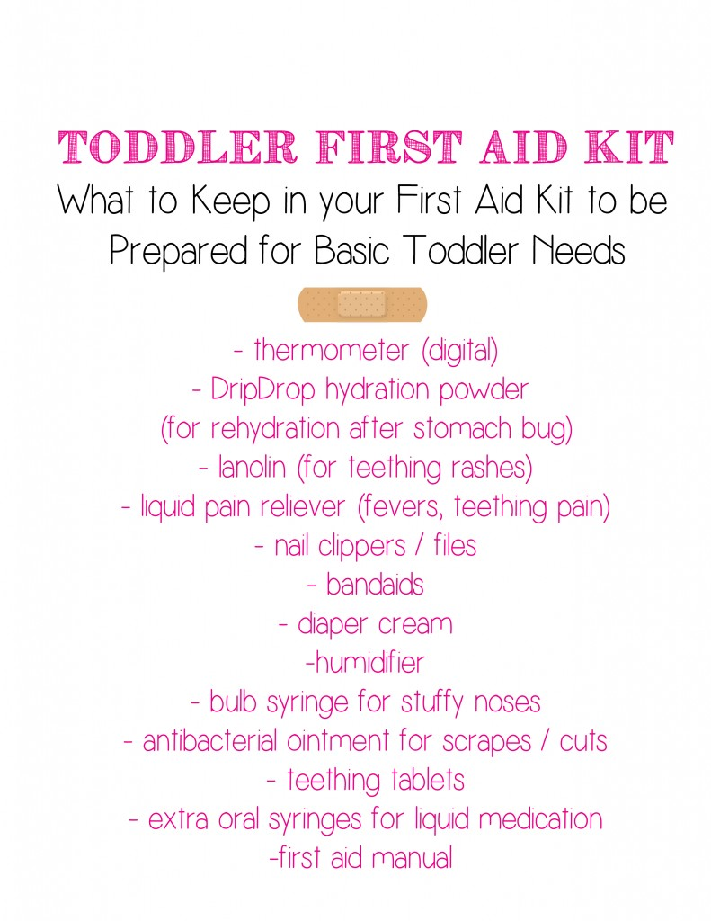 I love this simple toddler first aid kit checklist and printable! Now I'll be prepared in advance for any sickness or toddler ailment! #DrinkDripDrop #DripDropHydrates #Pmedia #ad