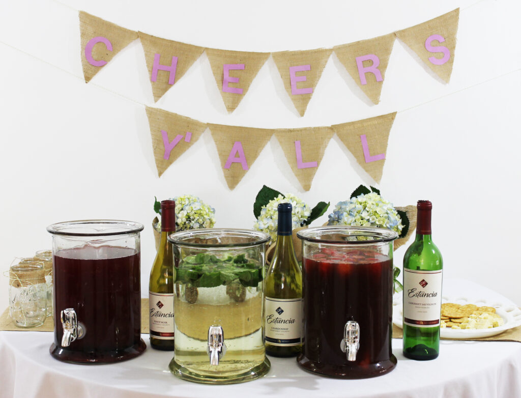 msg 4 21+: How great is this sangria tasting party? I can't wait to try each sangria recipe, they're perfect for a spring bridal shower or bachelorette party! #ArtOfEntertaining #ad