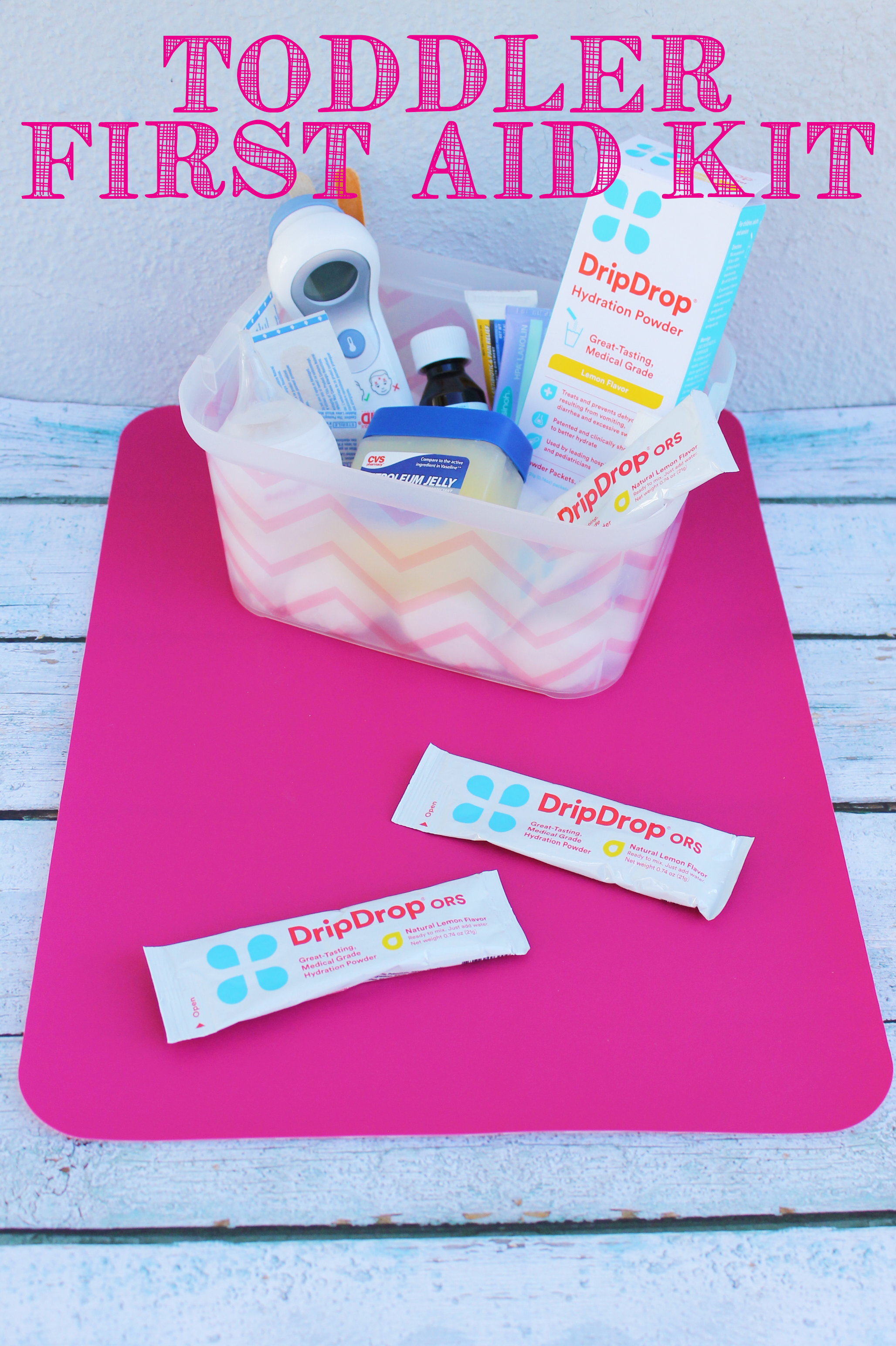 Toddler First aid Kit by Lipgloss and Crayons