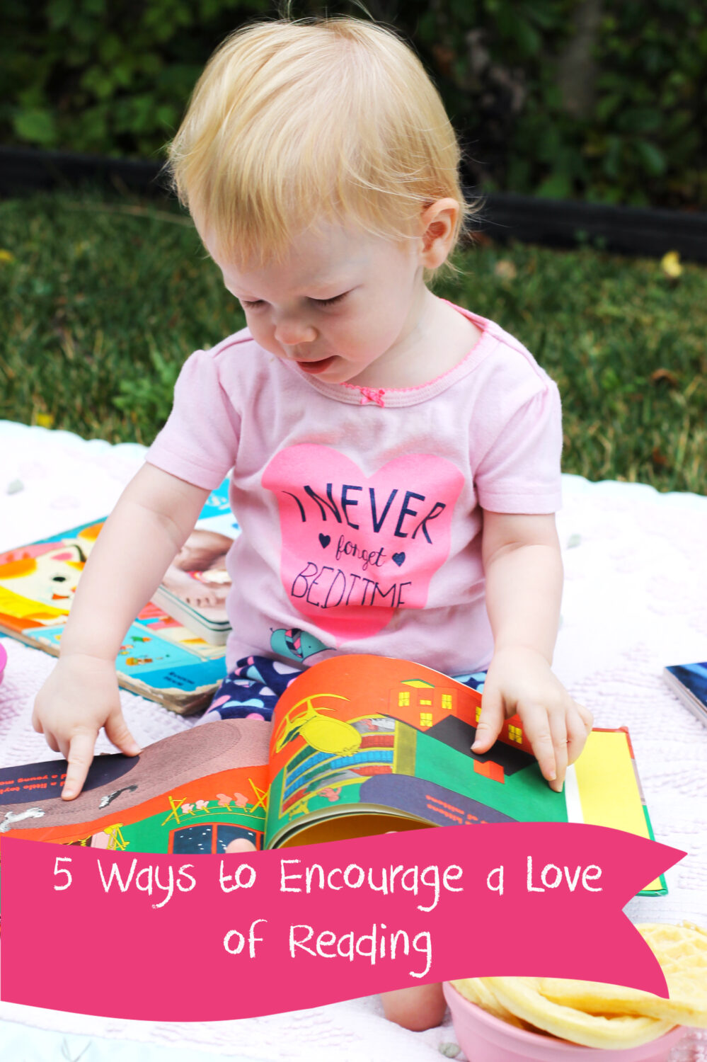 I love these tips for 5 ways to encourage reading with children of all ages!  These simple tips can be implemented in any household!
