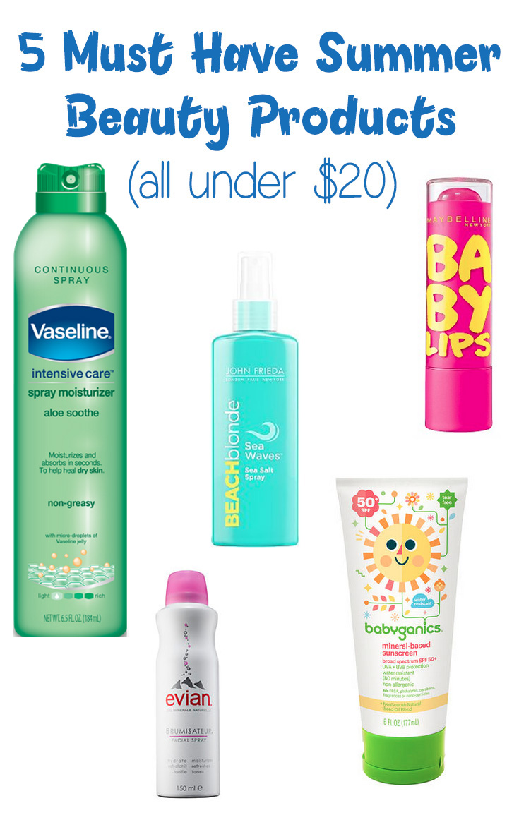 Summer is a tough time beauty-wise! These 5 must have summer beauty products are essential, and they're all under $20!
