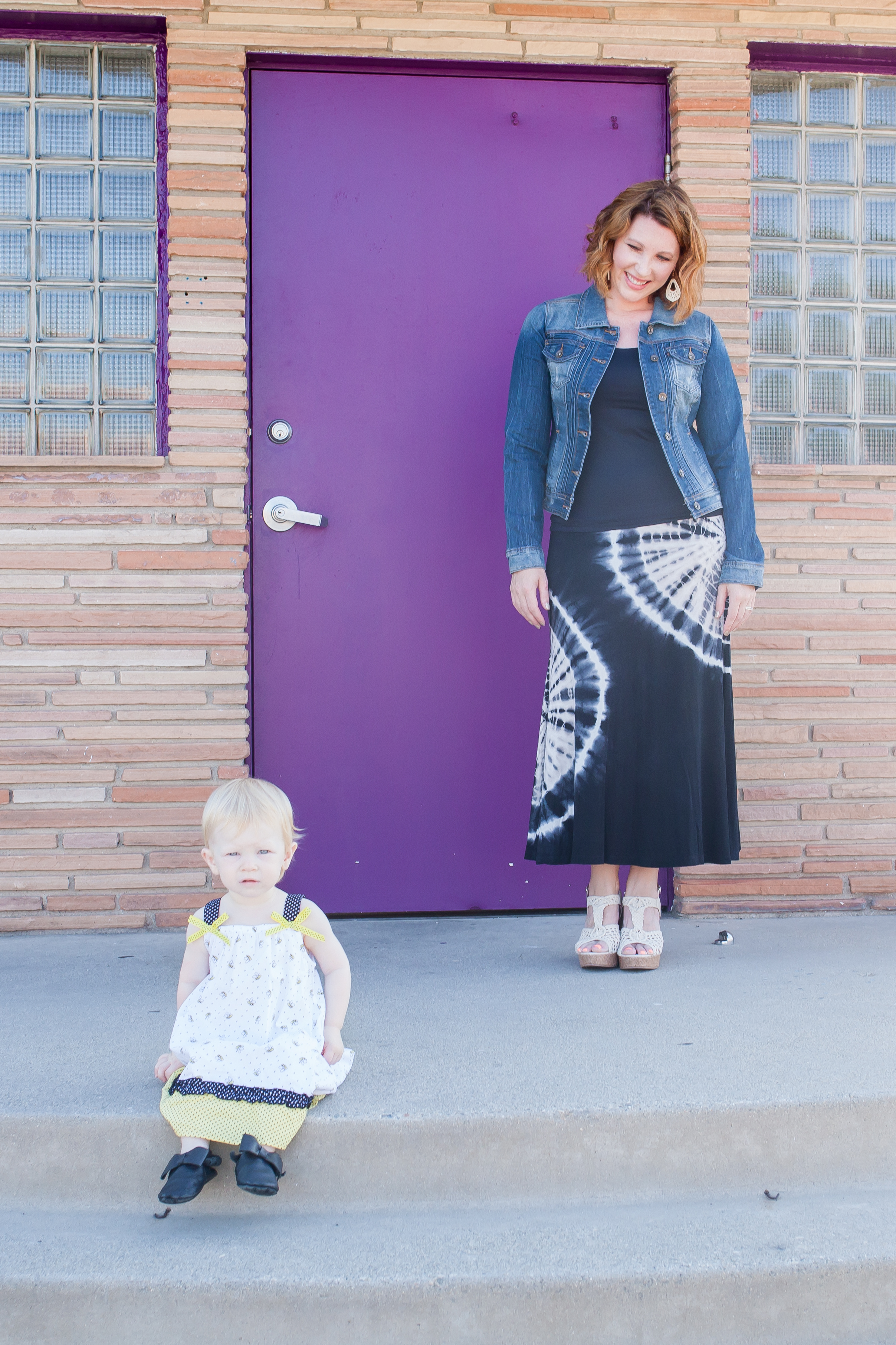 How adorable is this back to school mommy and me outfit? I love the black and white sundress with pops of yellow!