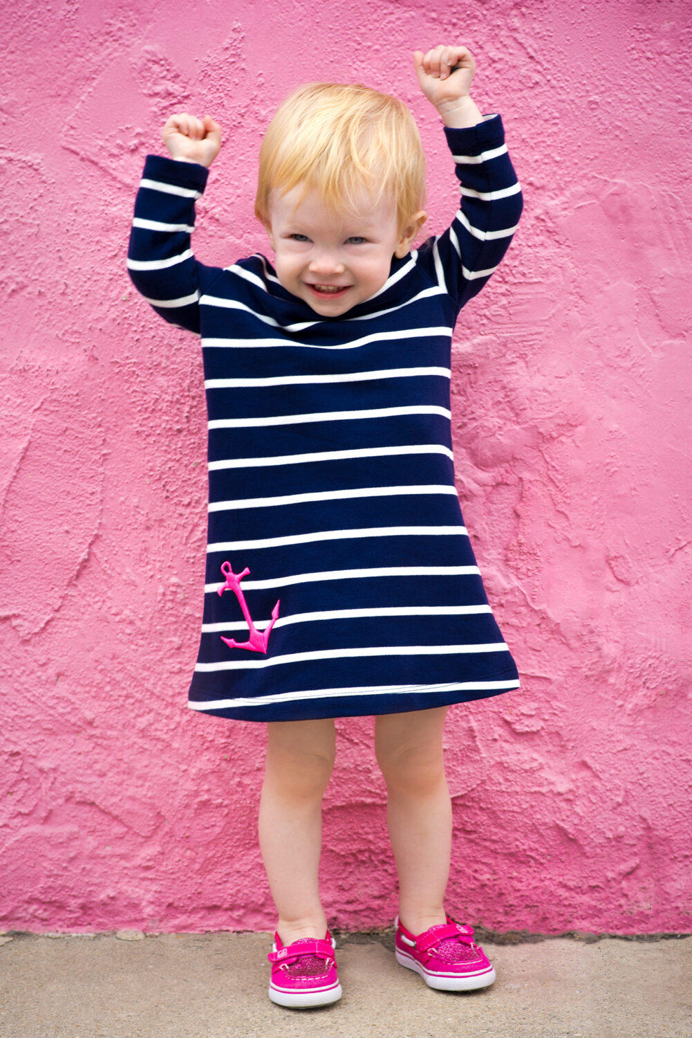 toddler navy striped dress