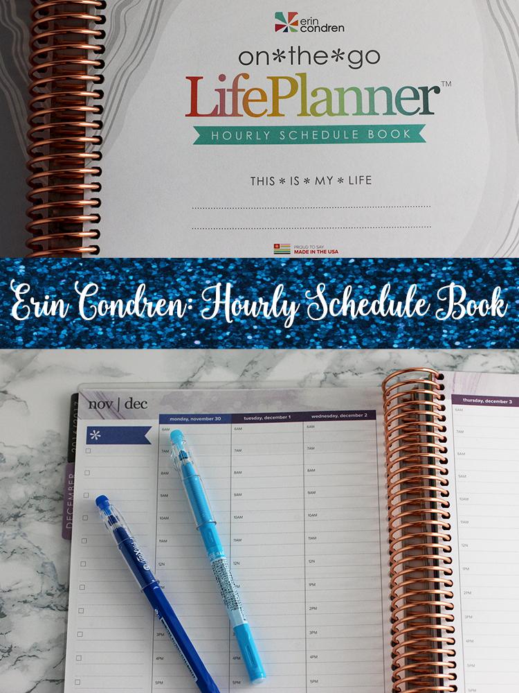 This Erin Condren Hourly Schedule Book is a planner lover's dream!