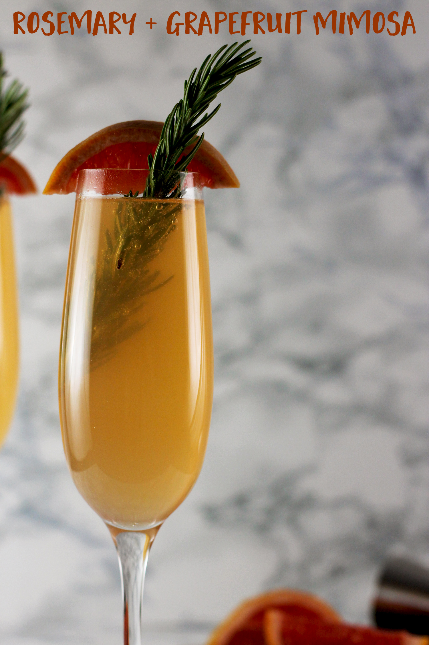 This rosemary and grapefruit cocktail is the perfect brunch drink recipe! It's light, fresh tasting and easy to make!