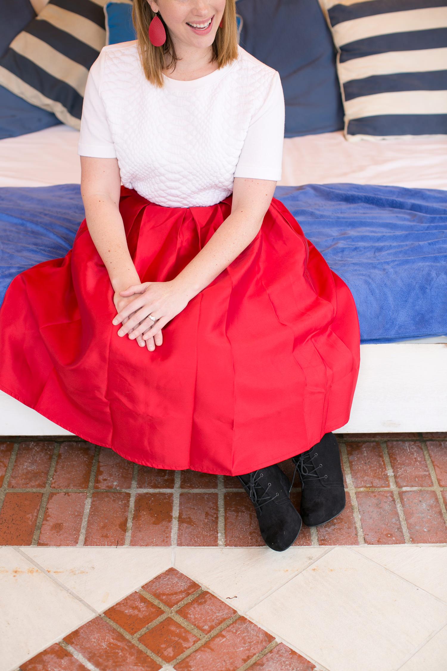 red-midi-skirt