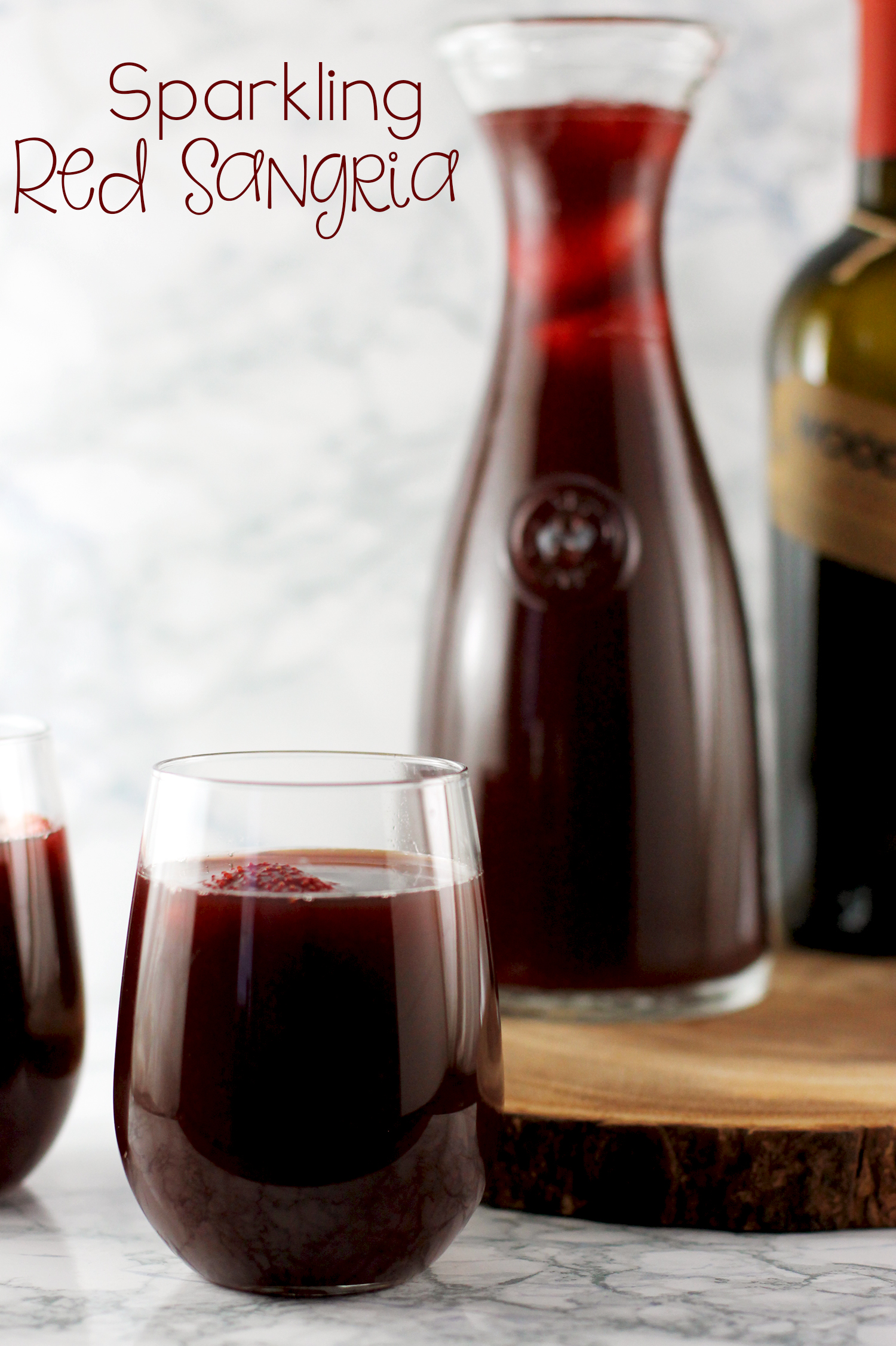 This sparkling red sangria is super easy to make, and tastes amazing!!!