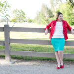 Red and Mint (and the Cassie skirt)