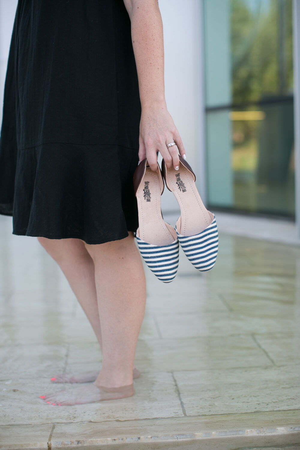 These striped flats by The Root Collective are comfortable and help support artisans in impoverished communities!