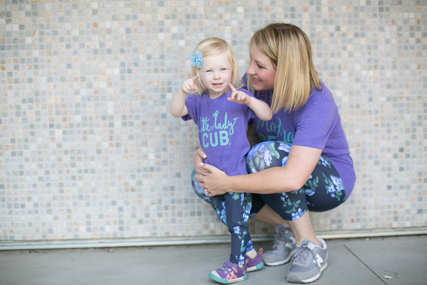 How cute are these mommy and me leggings? Perfect for a casual outfit!