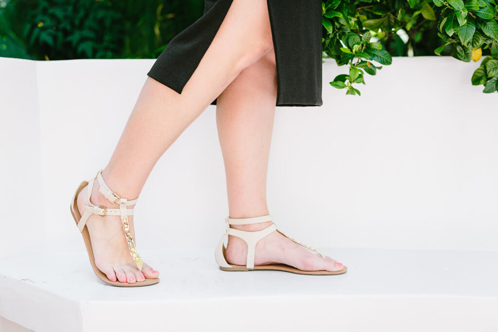 Stitch Fix Review July: Three simple tips from the Stitch Fix Styling Team that tell how to get great staples like these Diba Layna Metal Embellished Sandals!