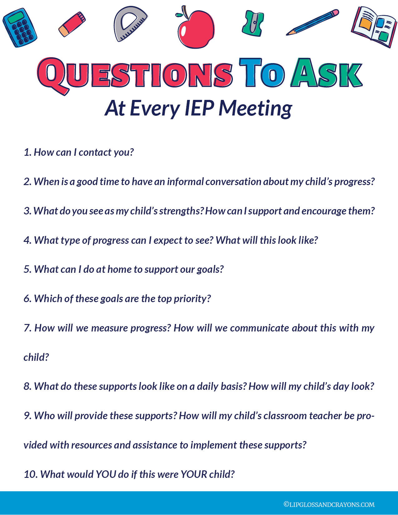 IEP Meeting: 10 Questions Every Parent Should Ask