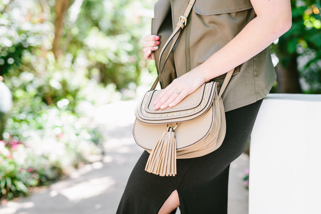 Stitch Fix Review July: Three simple tips from the Stitch Fix Styling Team that tell how to get great staples like this Street Level Maci Studded Fringe Crossbody Bag!