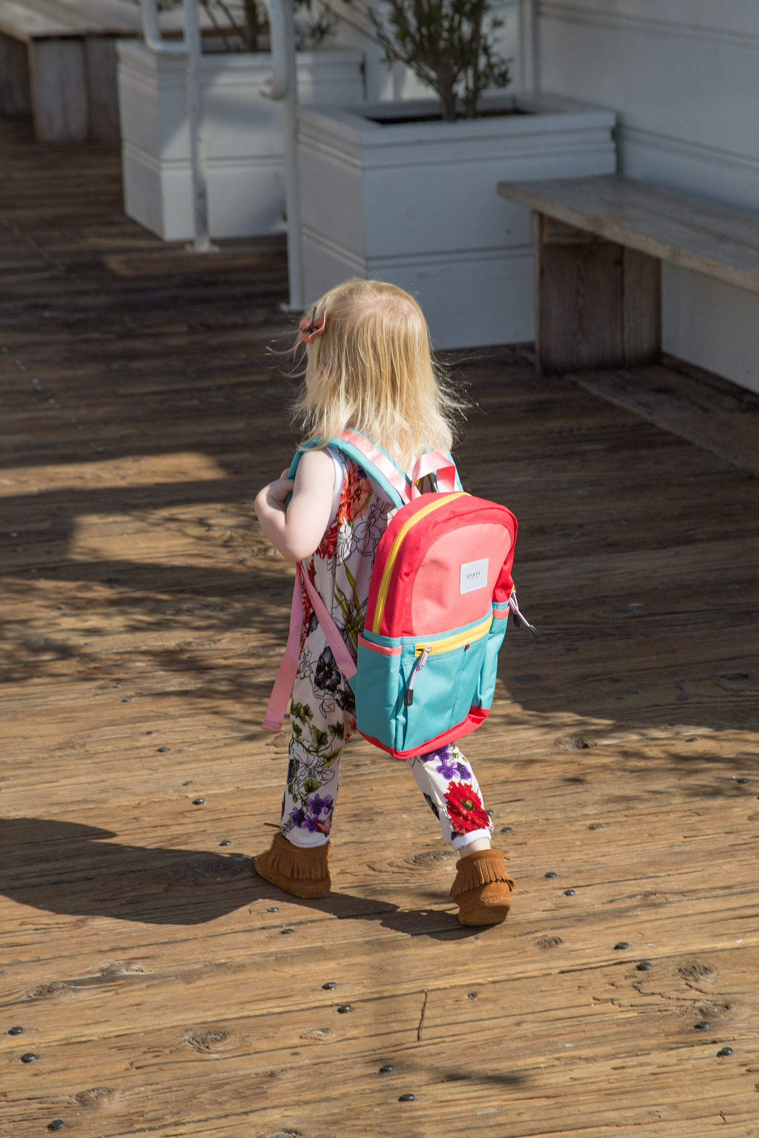 state backpack: for every backpack purchased one is given to a child in need FILLED with supplies!
