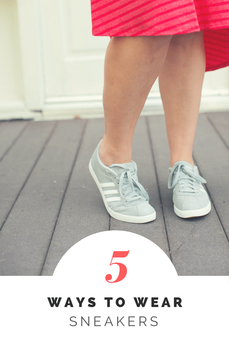Comfort AND style? Yes, you can wear sneakers with more than your workout gear. Here are five ways to wear sneakers beyond the gym!