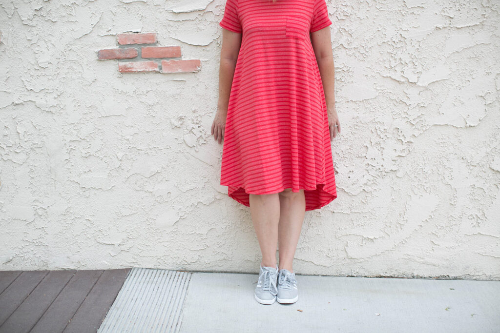 Comfort AND style? Yes, you can wear sneakers with more than your workout gear. Here are five ways to wear sneakers beyond the gym (and the amazing lula roe carly dress)!