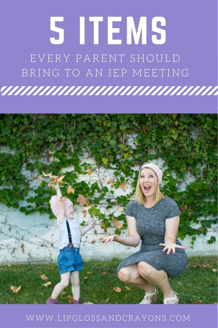 Preparing to attend an IEP meeting? Here are 5 Items Every Parent Should Bring To An IEP Meeting to communicate with their child's support team.