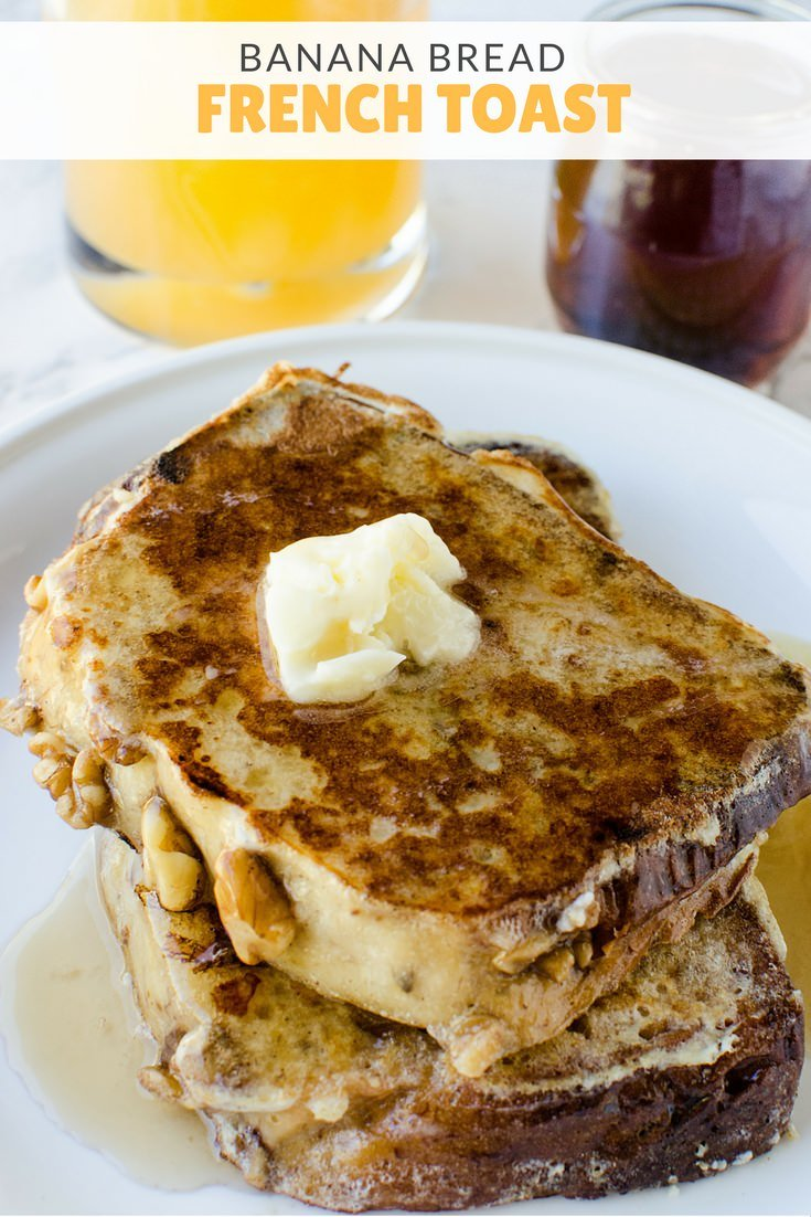 Breakfast about the only thing your kids will eat? Yup, us too. This banana bread french toast is delicious at any time of day!