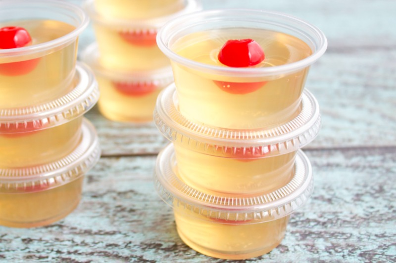 Amaretto Sour Jello Shots take a classic cocktail and turn it into a fun party shot everyone will love!