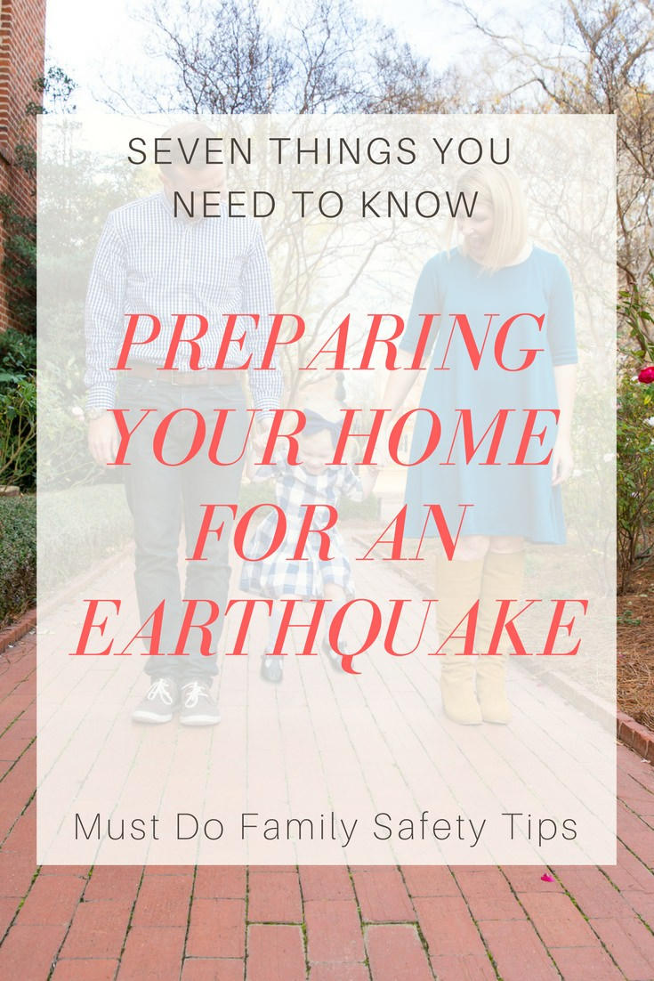 7 Tips to Prepare For An Earthquake by lifestyle blogger Carly from Lipgloss and Crayons