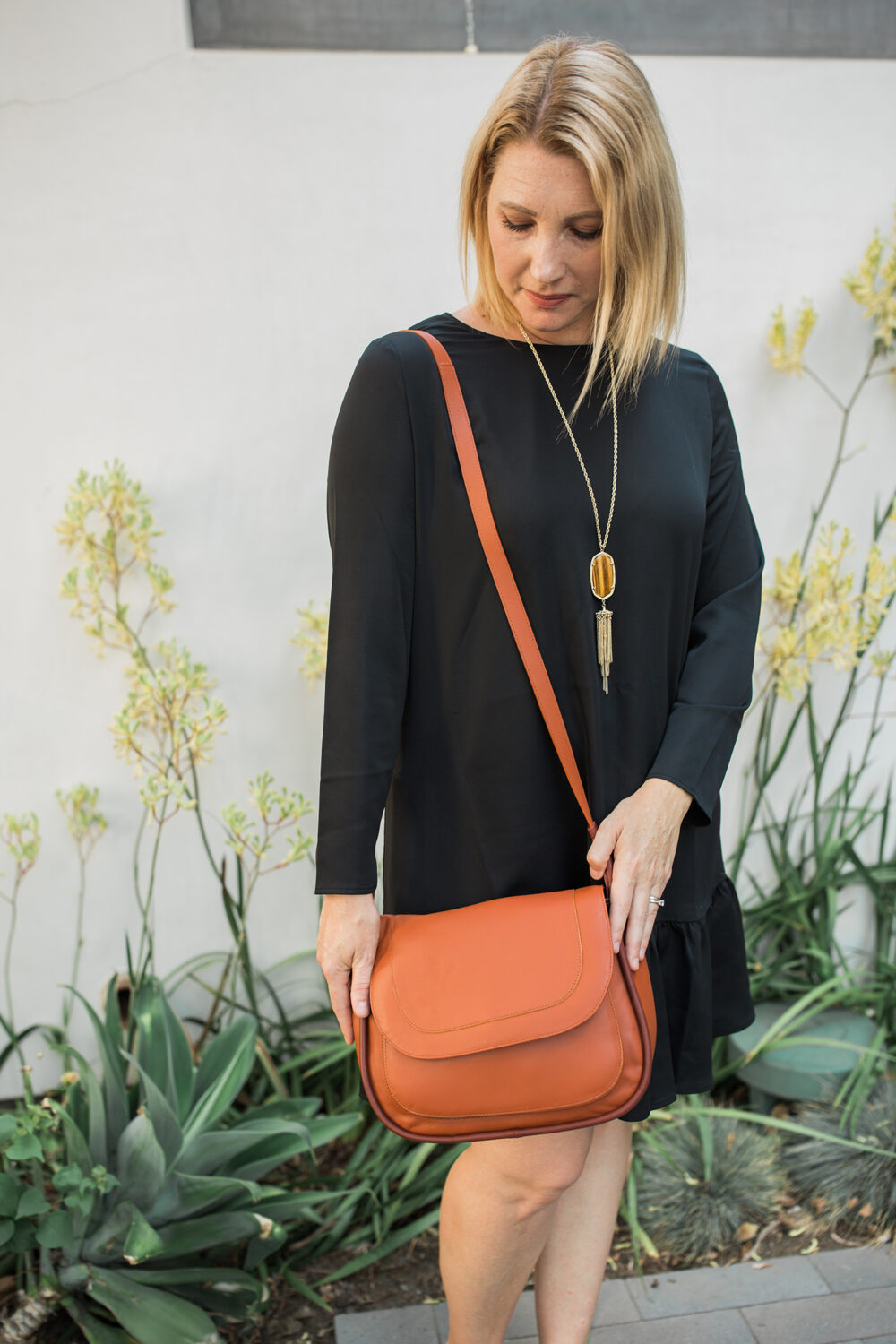 little black dress for fall: This one fits like a dream, and is great for cooler weather!