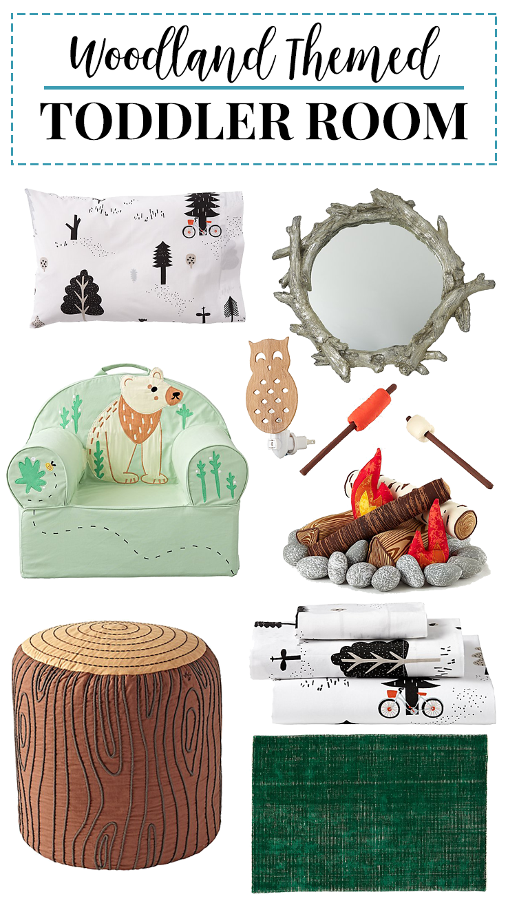 Looking for toddler room decor? This woodland themed toddler room is fun, playful and perfect for growing kids!