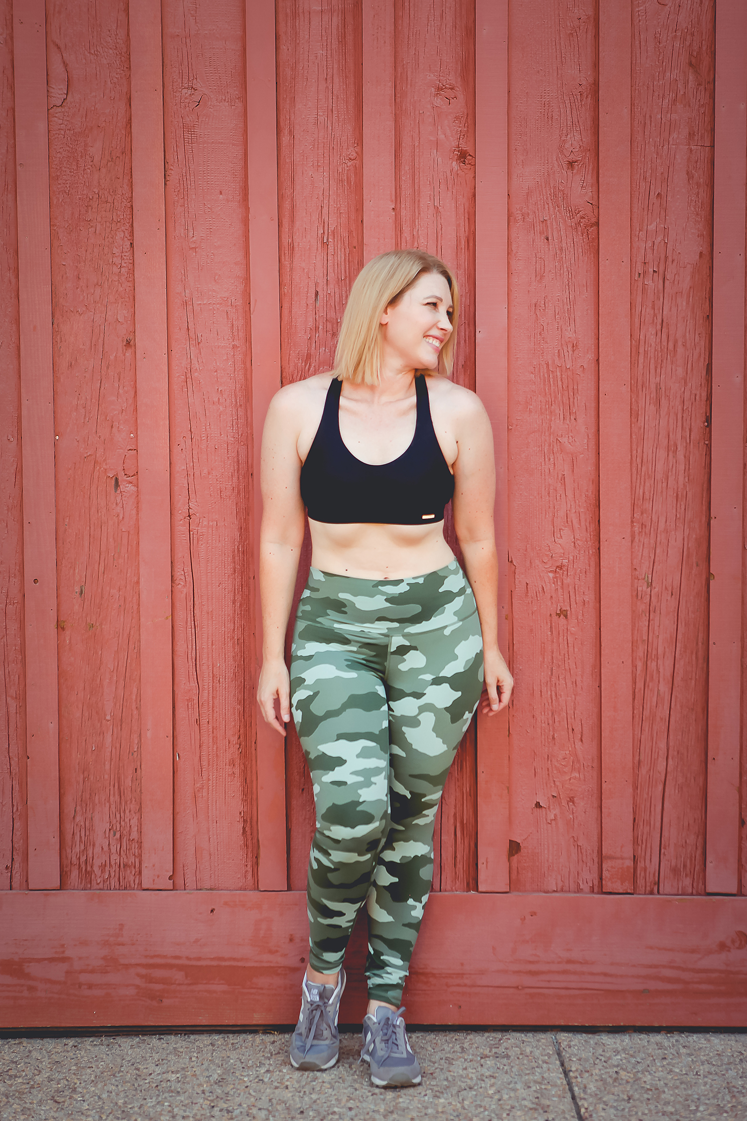 These camo leggings are perfect fall activewear!