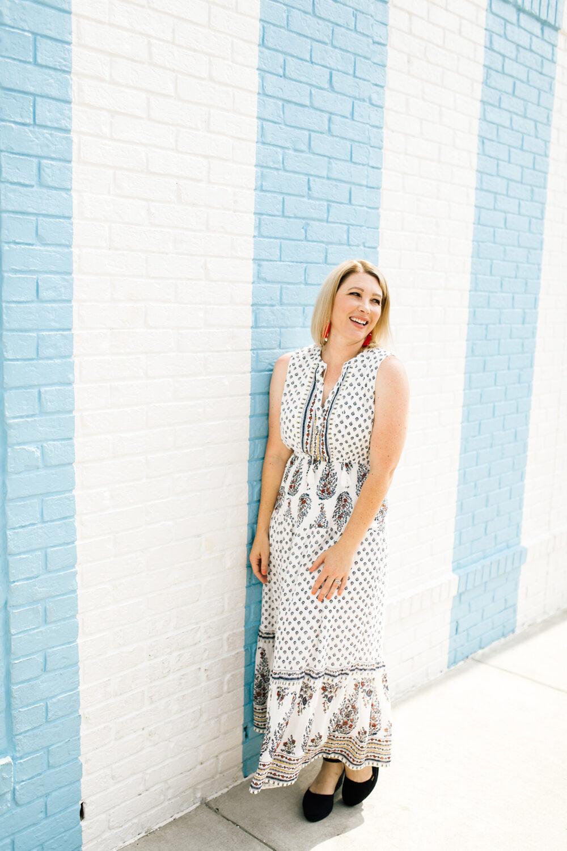 Fall Maxi Dress | Lipgloss and Crayons