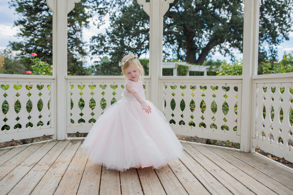 Planning for wedding season? This pink flower girl dress is just stunning!
