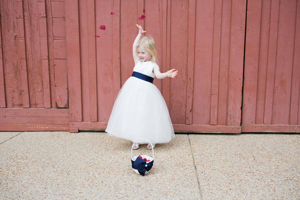 Looking for wedding outfit ideas? This white flower girl dress is just adorable!