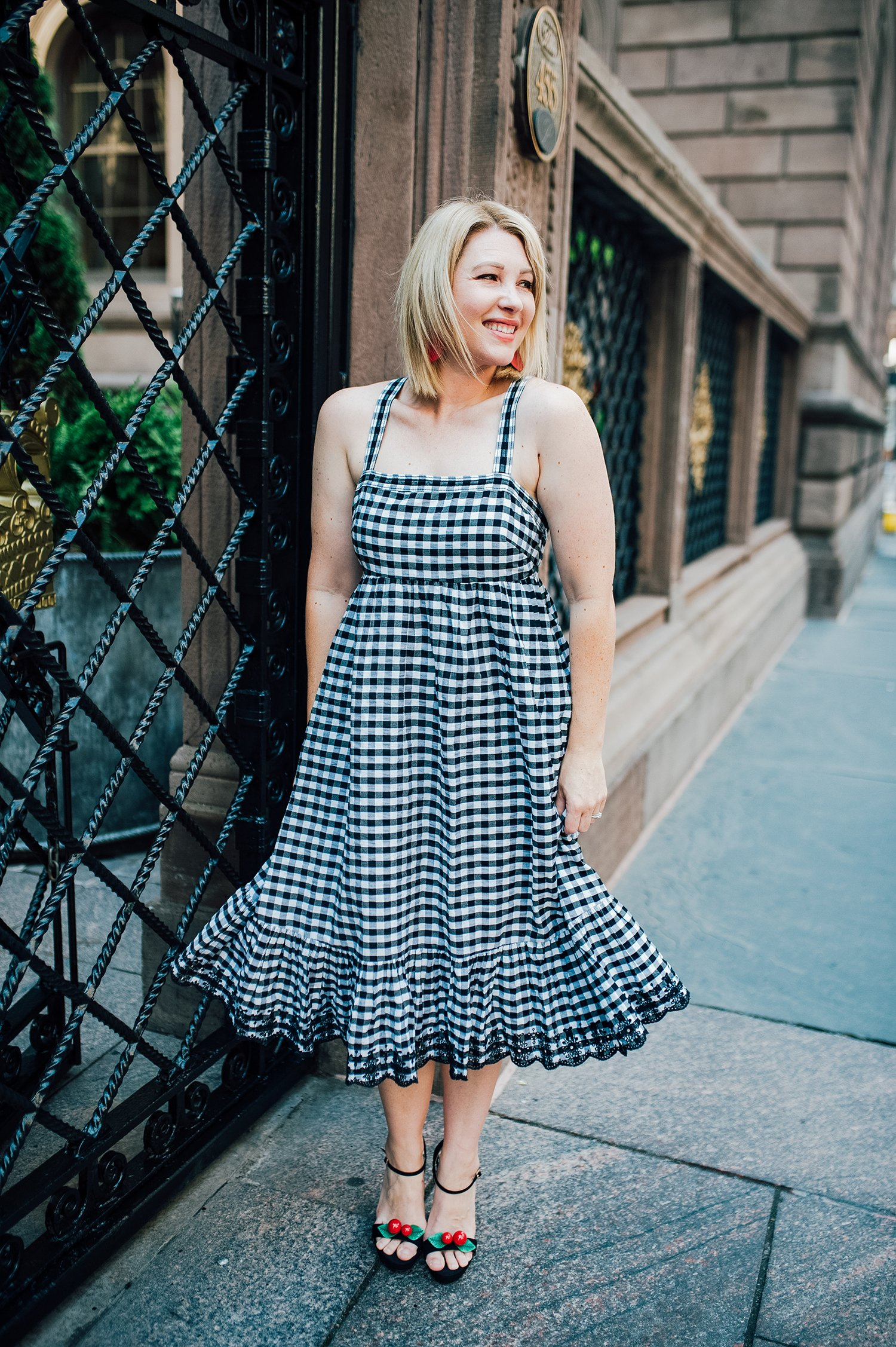 Are you obsessed with gingham? This a line dress is super flattering and totally on trend!