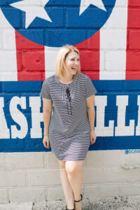 How to Wear a Striped T Shirt Dress for Fall