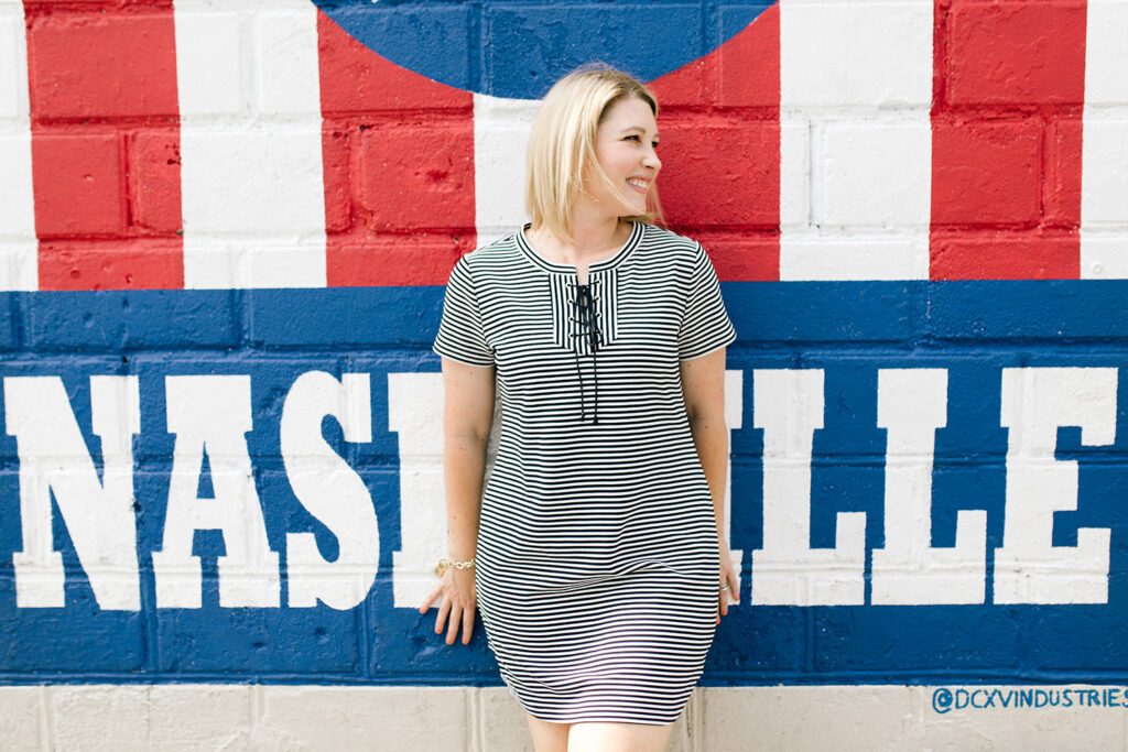 Love your striped t shirt dress? These are two easy ways to style it for fall!