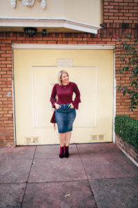 The Best Denim Pencil Skirt for a Pear Shape Body