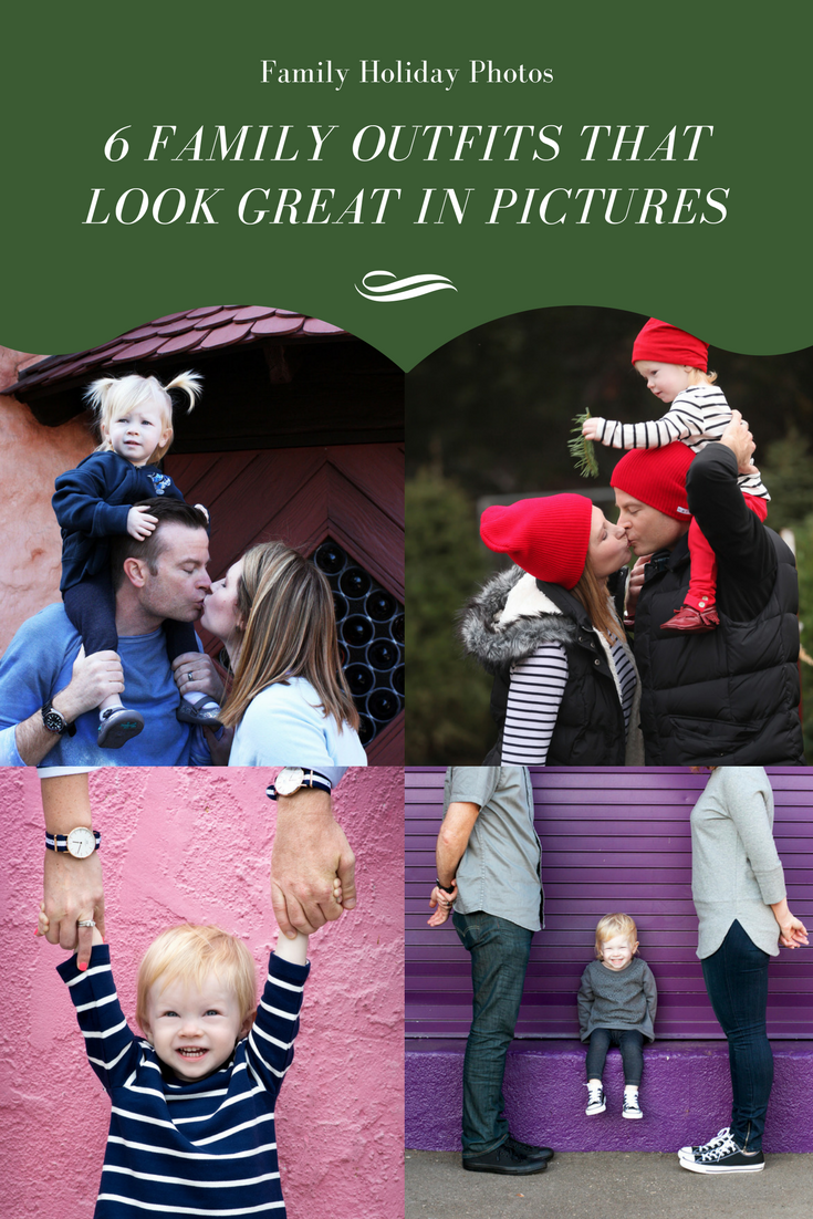 Looking for family photos outfits? These six ideas are adorable and super easy to put together!