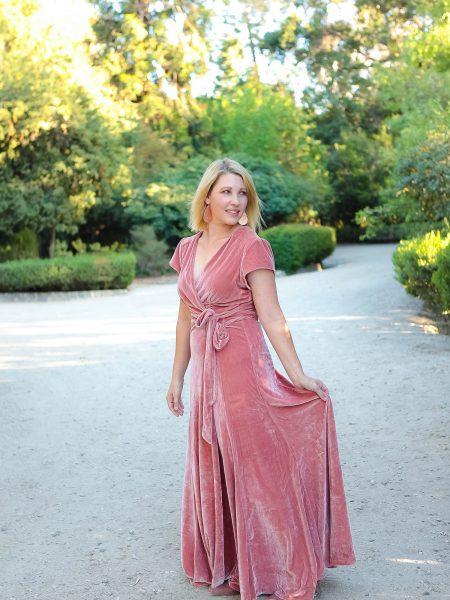 Holiday Dresses- Pink Velvet Dress 4