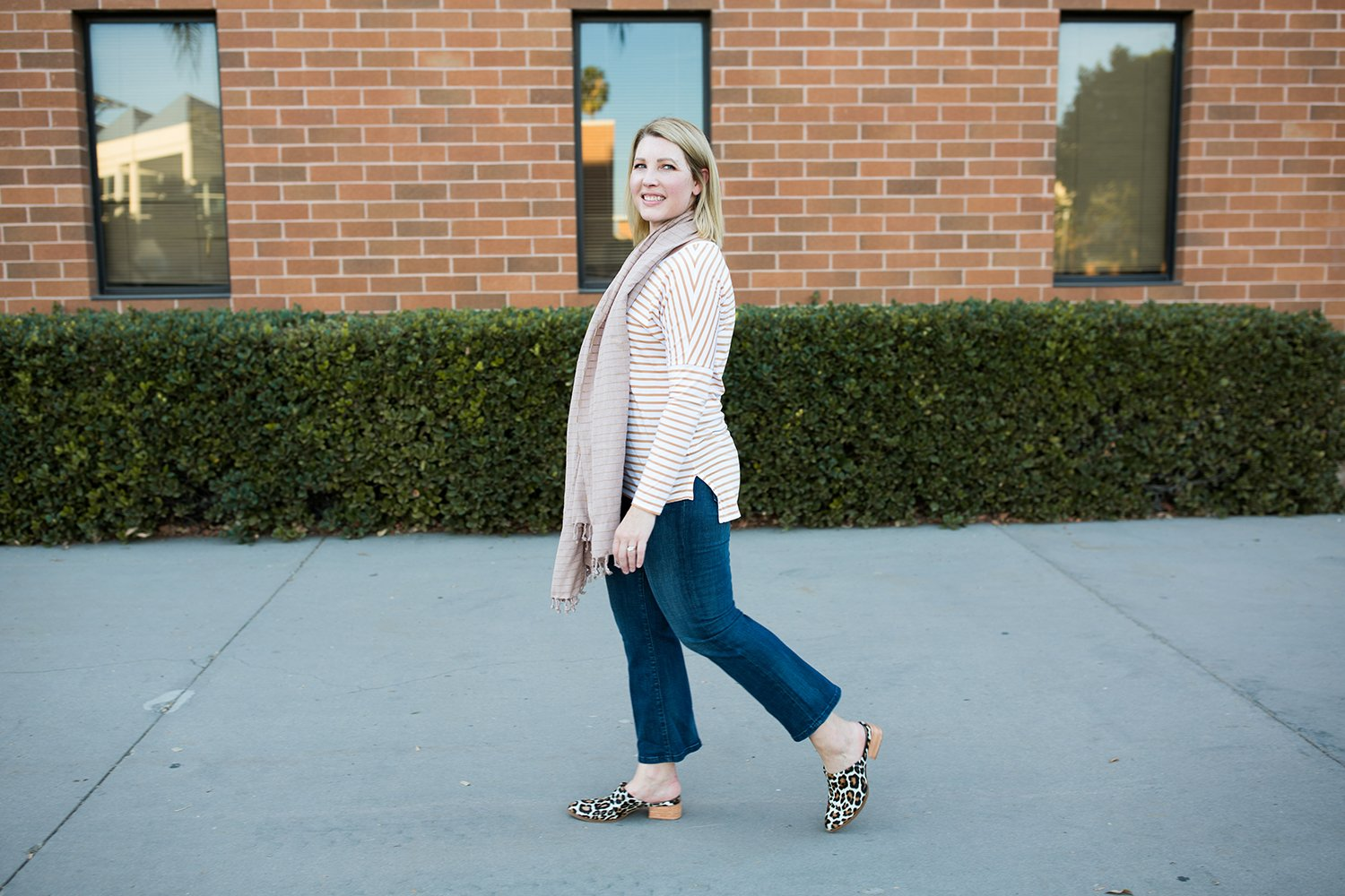 I love a great stripe tee for fall!