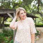 Date Night Outfit: Pink Lace Top