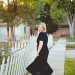 Holiday Dresses: Velvet Wrap Dress