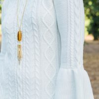 Holiday Dresses: White Sweater Dress