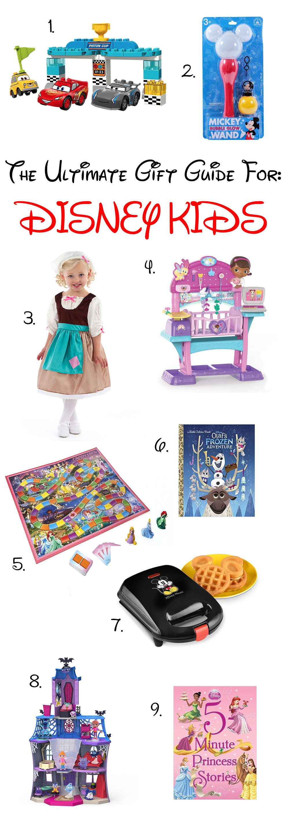 Looking for Disney Gifts for your favorite preschooler? This gift guide has some great options for under $70!