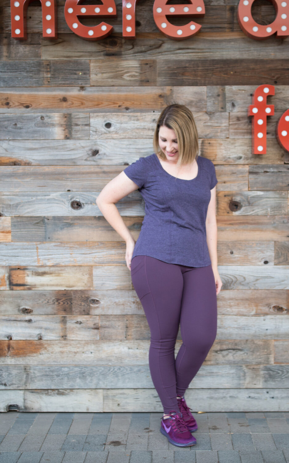 Are Zella leggings worth all that money? Find out from Los Angeles Lifestyle blogger, Lipgloss & Crayons as she reviews this workout wear brand. Plus, get the details on these purple workout pants and purple running shoes!