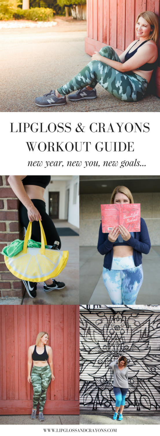 Bookmark this ASAP! Need help with a jumpstart to 2018? See how Lipgloss and Crayons is sharing all her workout tips, tricks, favorite items, and much more with the Lipgloss and Crayons Workout Guide.