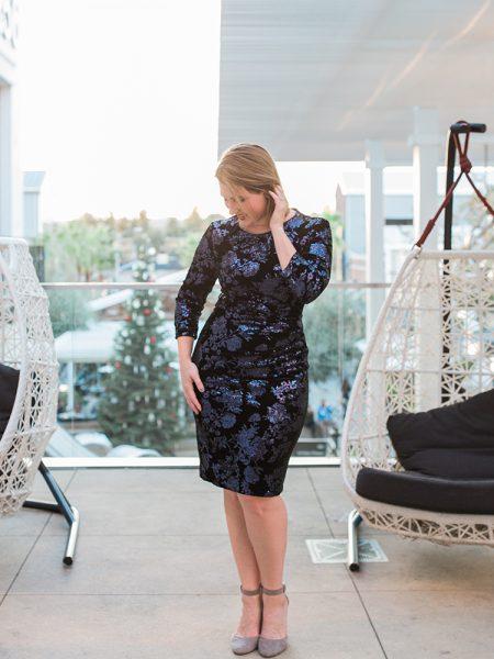 Holiday Dresses: Black Sequin Dress