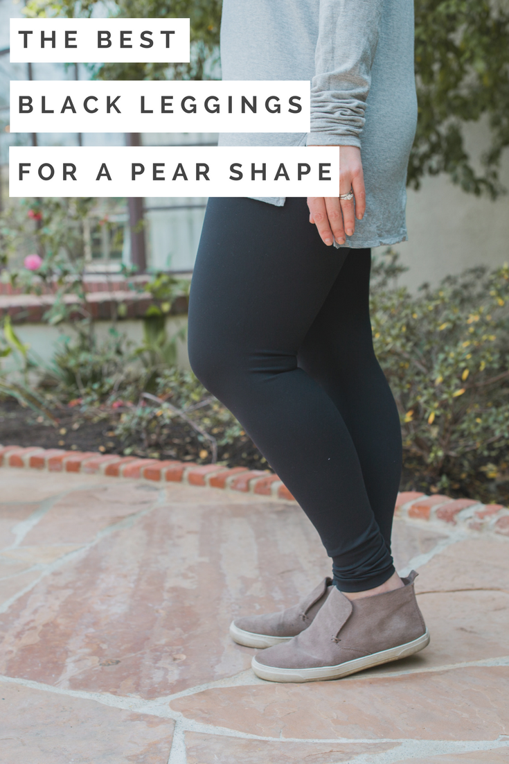 Are you looking for the best black leggings for your pear shaped body? Los Angeles Lifestyle blogger, Lipgloss & Crayons shares the best leggings she's found.