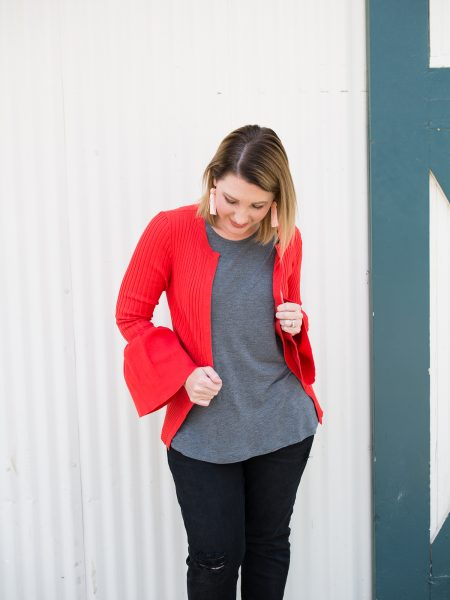 Red Cardigan for A Pear Shape Body 2